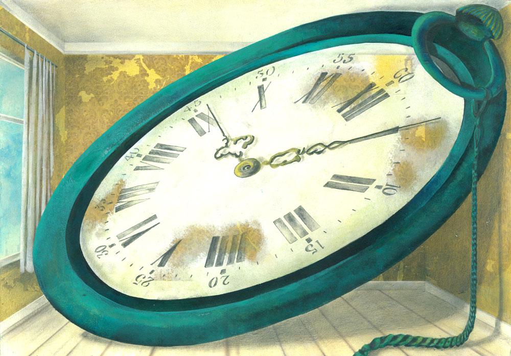 Illustration zum Thema Zeit und Raum
