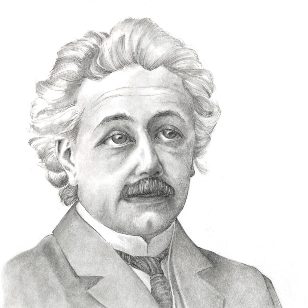 Einstein Susanne Brem Bleistiftzeichnung