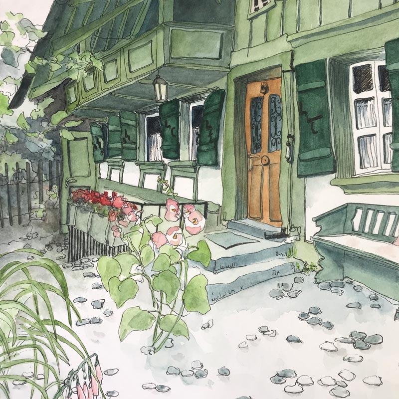 Albert Anker Haus im Berner Seeland Sketch Susanne Brem