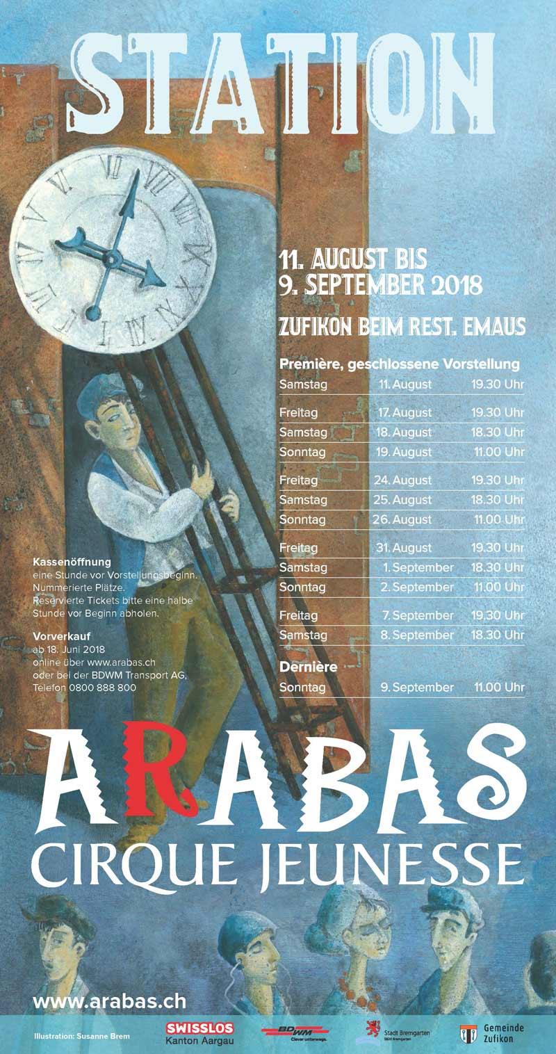 Plakat Für den Cinque Jeunesse Arabas Illustration erstellt von Susanne Brem