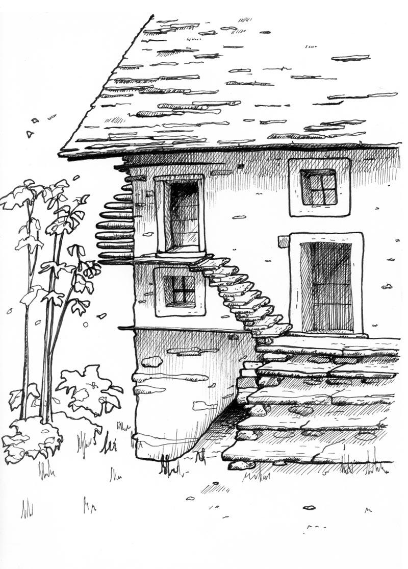 Auftragsarbeit_Tessin_Haus_Grotto_Illustration-Susanne-Brem
