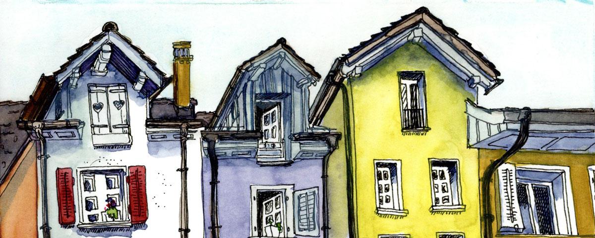 Bremgarten Urban Sketching Skizzieren an schönen Plätzen Aquarell Fineliner
