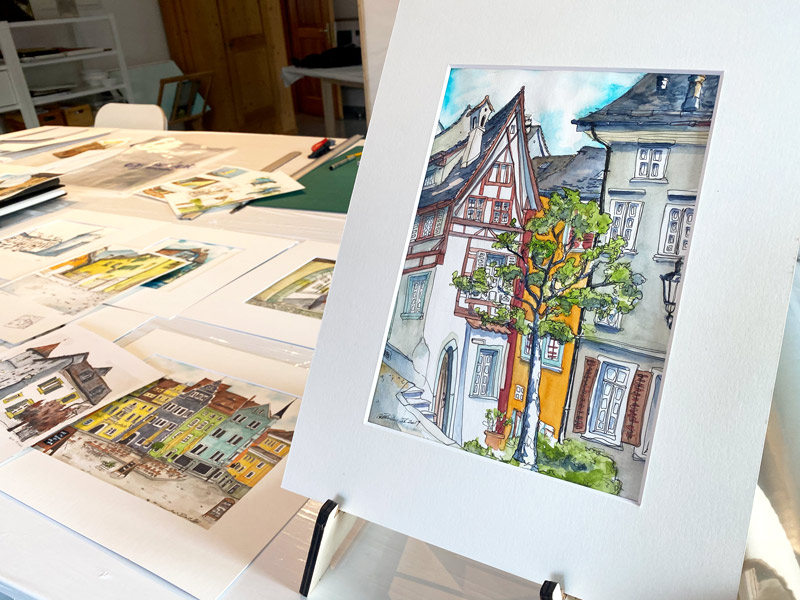 Urban Sketches Susanne Brem Bremgarten Am Bogen 10