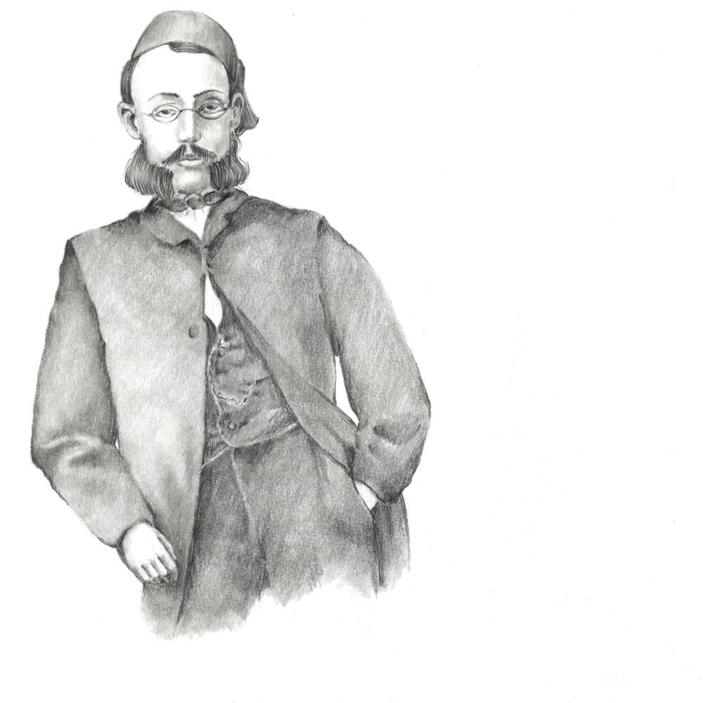 Skizzenbuch portrait Max Eyth (Susanne Brem)