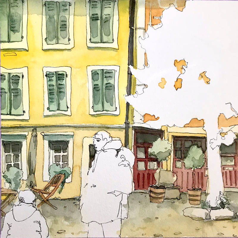 Malwochenende in Solothurn VHS Spreitenbach urban Sketchen Leitung Susanne Brem