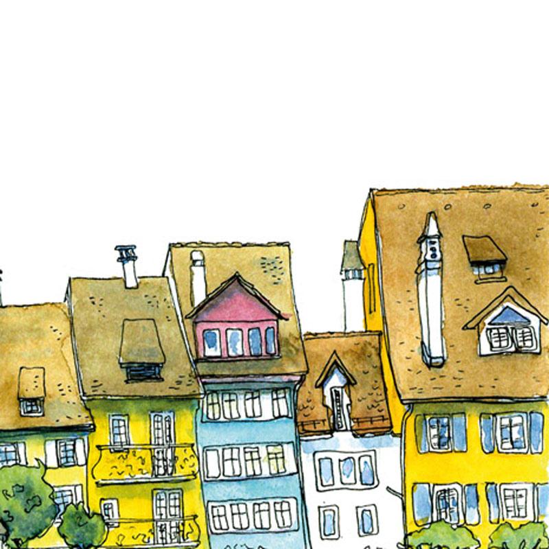 Urban Sketchen mit der VHS Bremgarten Leitung Susanne Brem