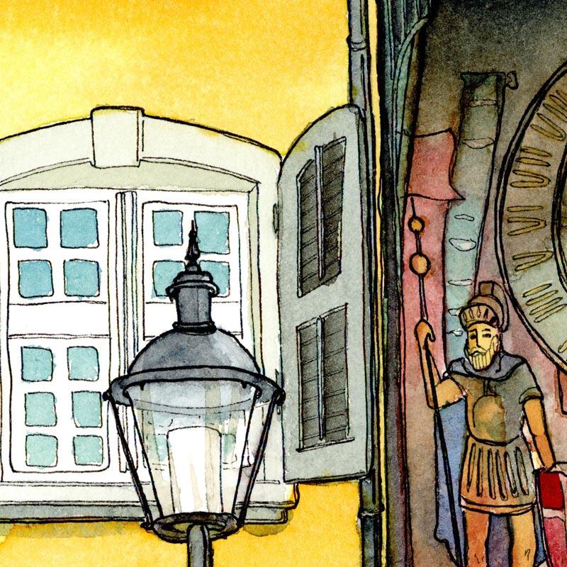 Urban, Sketchen, Workshop, Wochenende, Ausflug, Skizzieren unter freiem Himmel, Leitung Susanne Brem Kurs Schaffen, Volkshochschule Spreitenbach