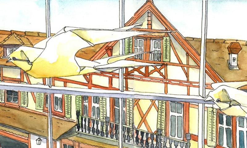 mit Baumeler Reisen fahren wir zum Urban Sketchen nach Meissen und an die Elbe