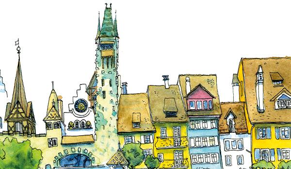Urban Sketchen in Bremgarten