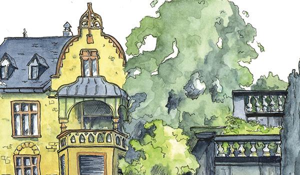 Urban Sketchen mit der VHS Spreitenbach zauberhafte Gärten