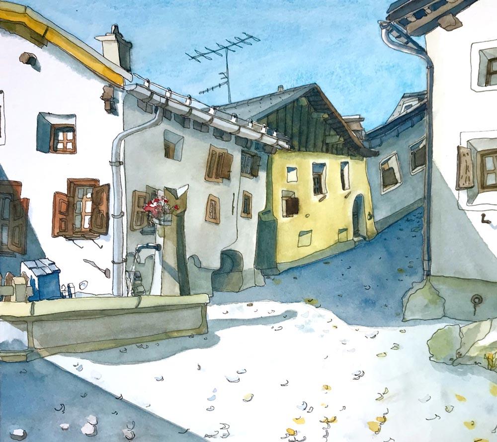 Newsletter Susanne Brem Zuoz Symposium Urban Sketching 2020