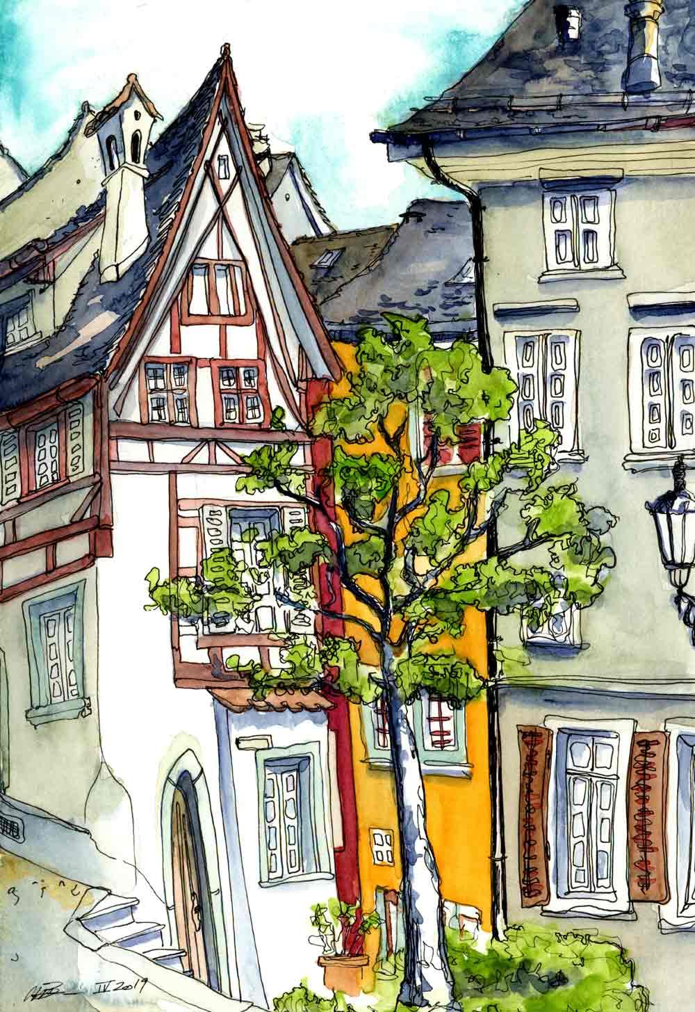 Untere Halde urban sketch Susanne Brem