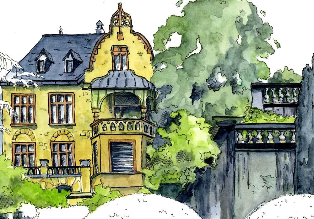 Villa Boveri zeichnen in zauberhaften Gärten Vhs Spreitenbach