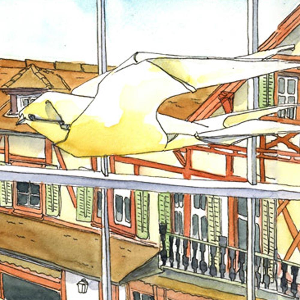 Urban Sketchen mit Baumeler Reisen in Luzern Leitung Susanne Brem
